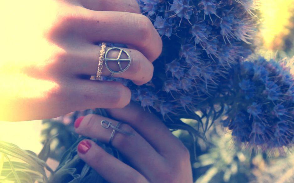 Aloha Summer - 'Tattoo Finger Rings'  (Eternity Skull Ring, Peace Ring and Sword Ring).