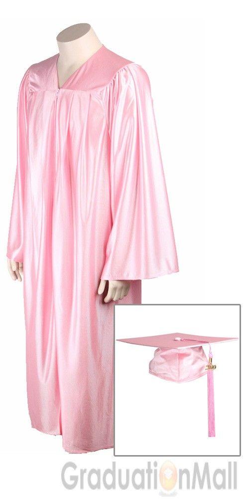 Economy Graduation Cap Gown Package--Pink-$17.95   High School Cap ...