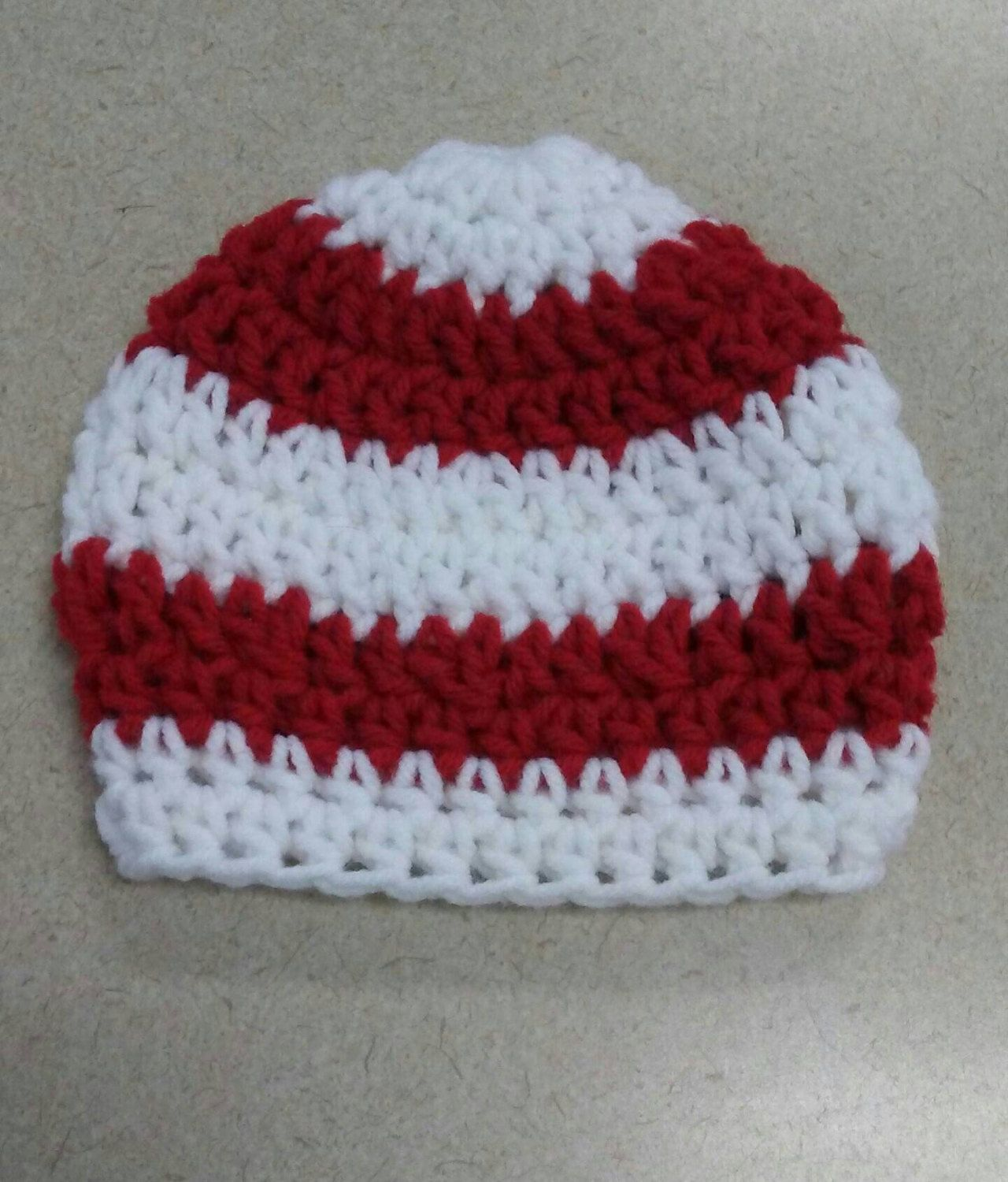 PDF Pattern, Crochet Baby Hat Pattern Only, Baby Photo Prop, Red and ...