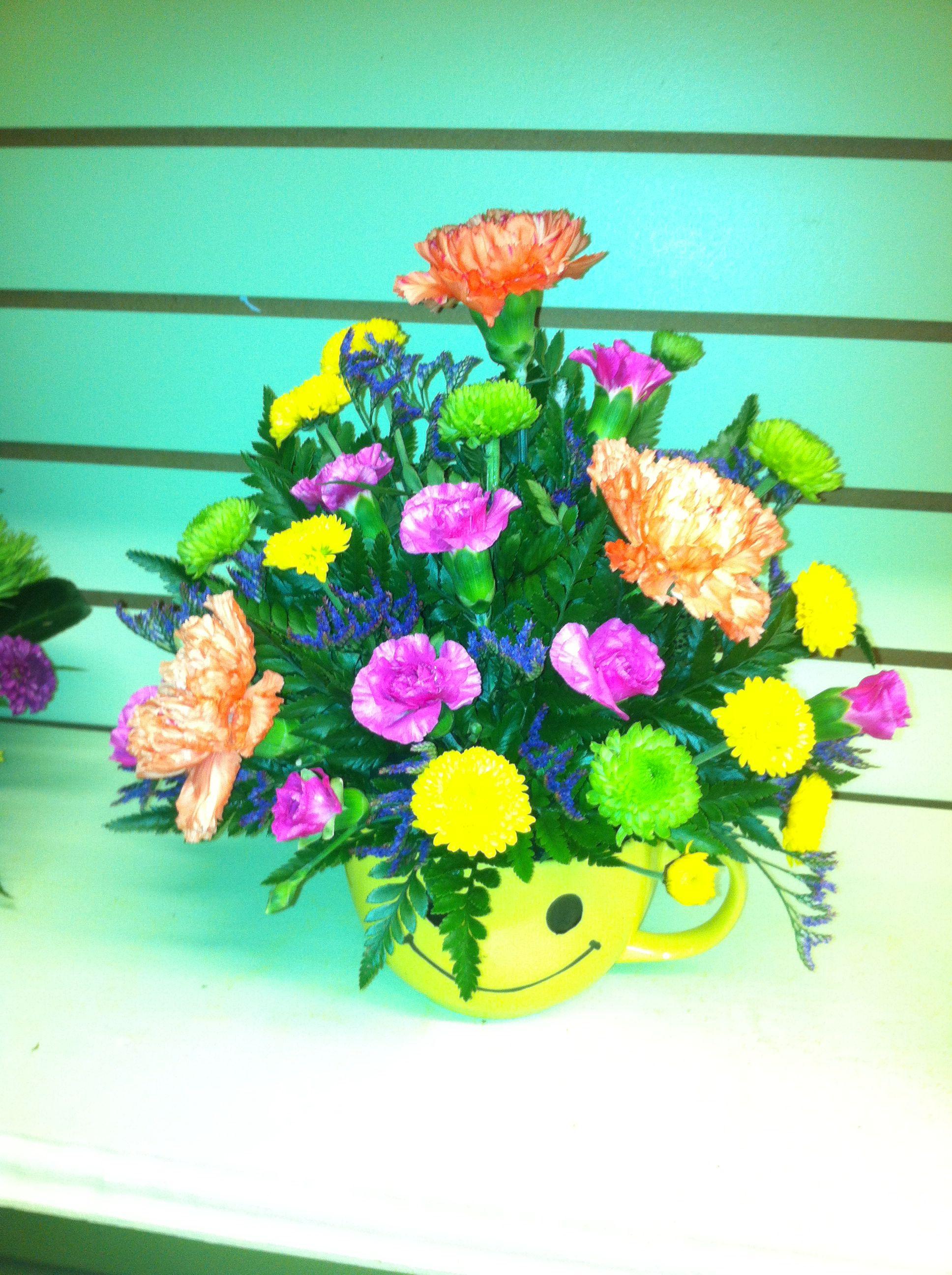 Smiley face floral arrangement floral arrangements assorted smiley face floral arrangement izmirmasajfo