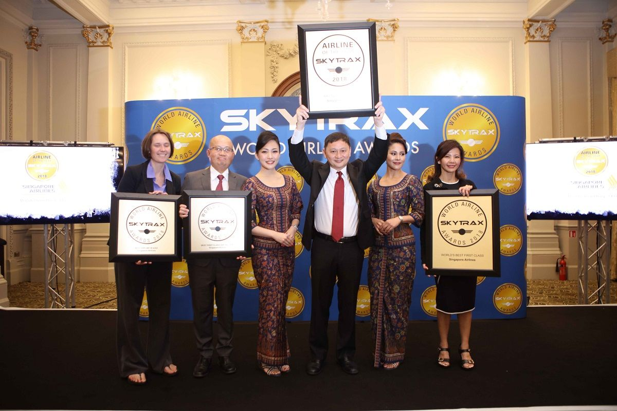 Singapore Airlines Named 'World's Best Airline' at Skytrax Awards 2018   World. Singapore. Awards