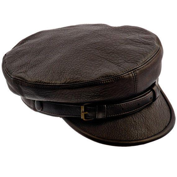 Genuine leather Fiddler Maciejowka dark brown cap. Gatsby   Irish   Newsboy  style. Cap with lining. All sizes.  84be06e6f626