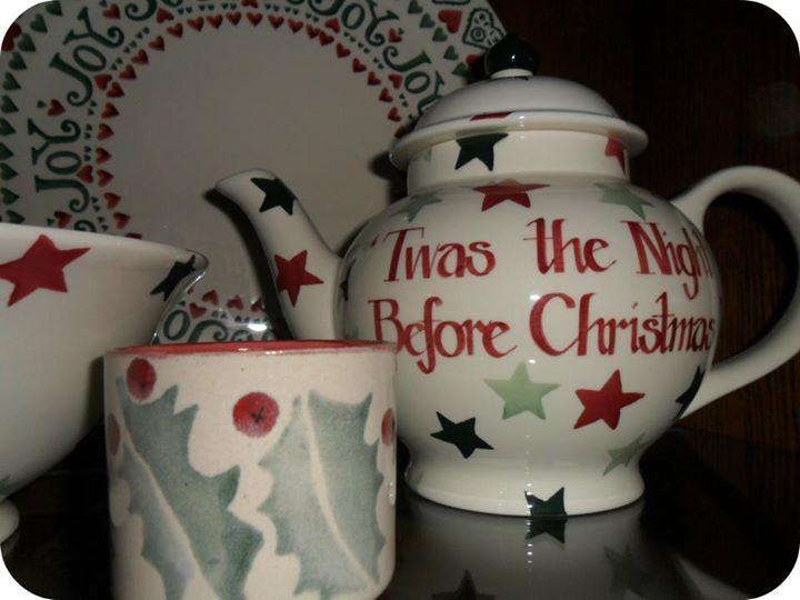 Emma Bridgewater 'Twas the Night before Christmas' Christmas Stars teapot