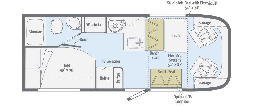 Trend floorplans winnebago rvs rv floor plans