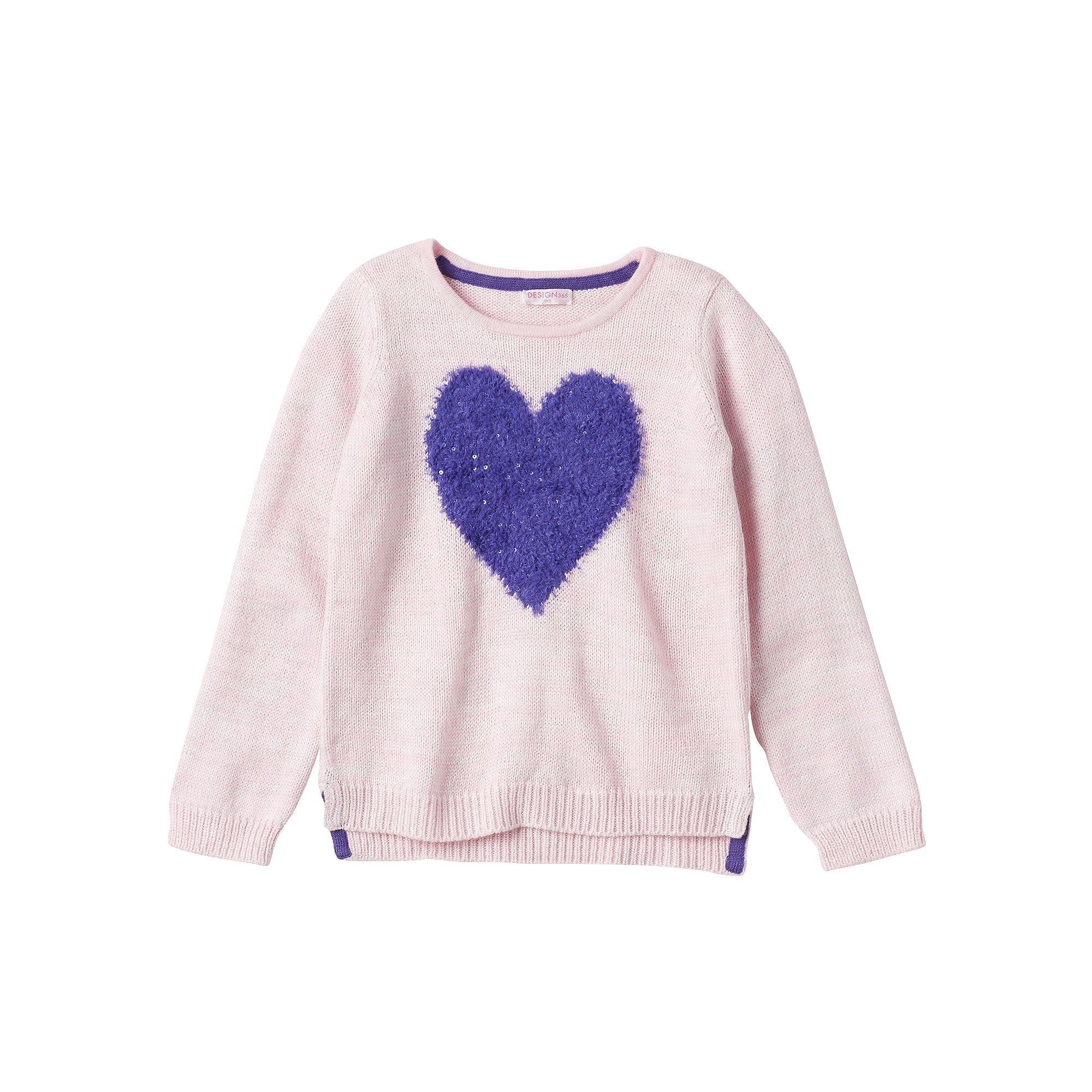 Design 365 Toddler Girl Marled High-Low Sweater, Size: 2T, Light ...