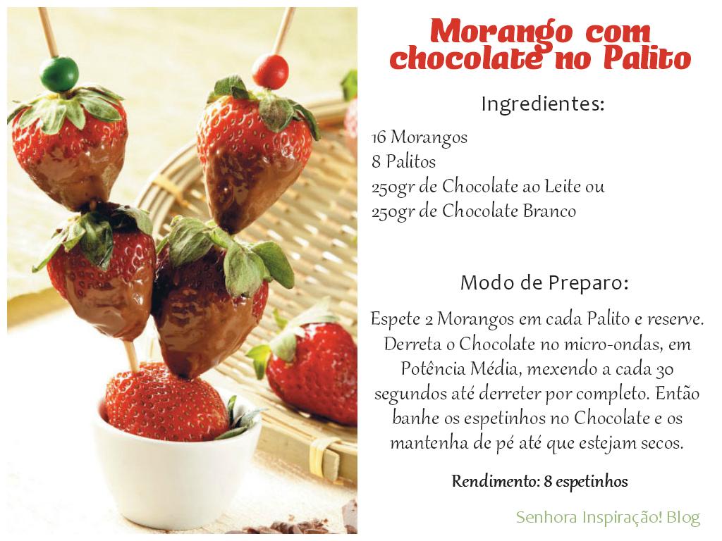 Strawberry - Morango com Chocolate