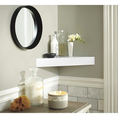 Threshold Modern Corner Shelf Assorted Colors Shelves Corner
