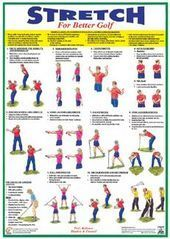 Fitness for Golf Official 2-Poster Set (Stretching and Muscle Work) - Chartex Lt... -  Fitness for G...