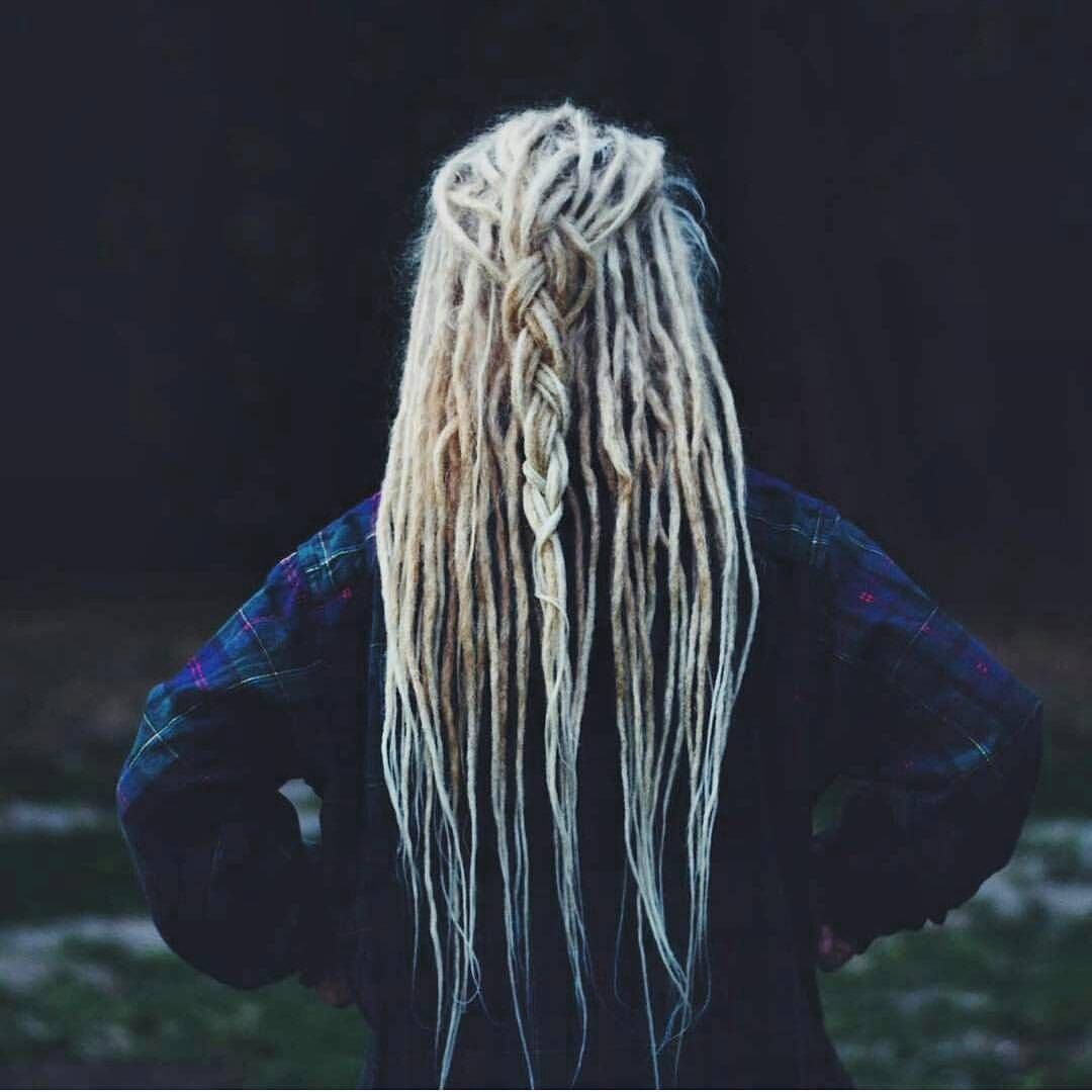 Blonde braided dreads  #dreads #dreadlocks #dreadies