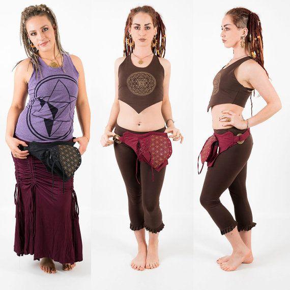 Vegan leather utility belt festival fanny pack waist pouch