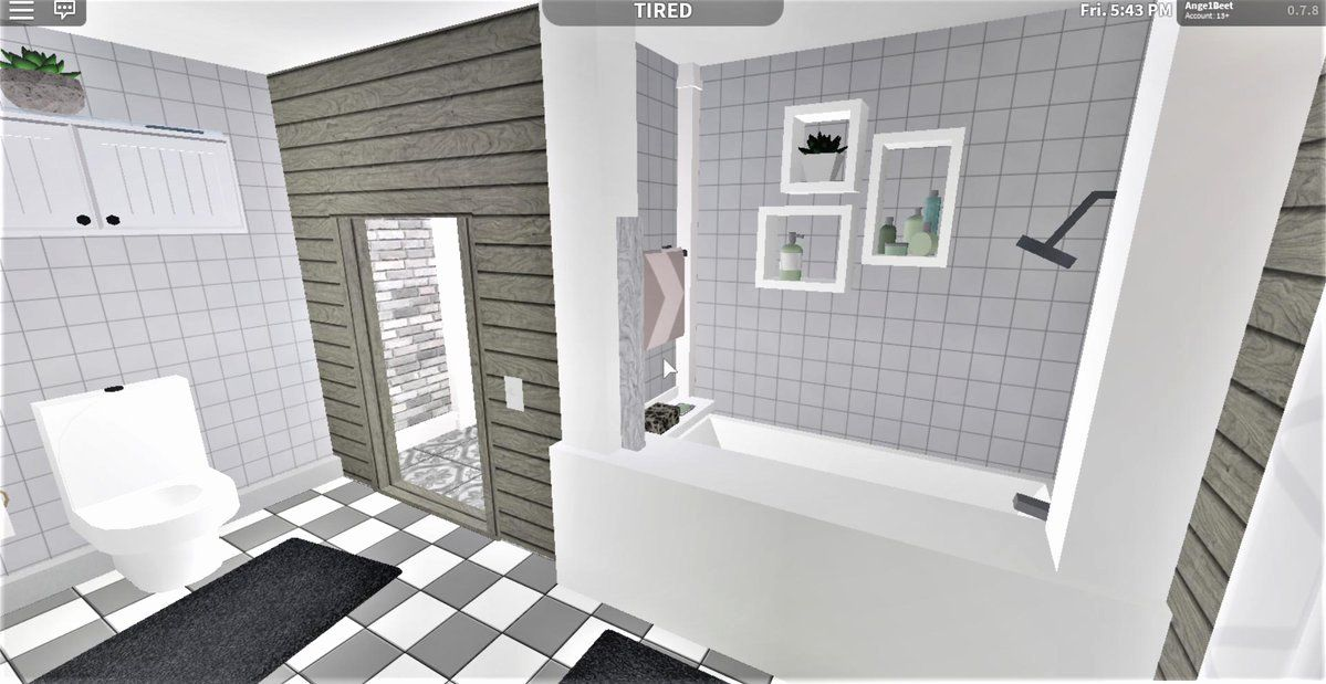 Modern Bathroom Bloxburg Unique Bloxburg Hashtag On Twitter In 2020 Modern Bathroom Design Tiny House Layout Unique House Design
