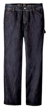 Women's Relaxed Straight Fit Carpenter Jean                     PRICE  $54.99   Item# FD230     - Relaxed straight fit  - Carpenter styling  - Hammer loop	Tool pocket  - Scuff guard at hem