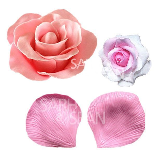 Jm021 Big Rose Flower Petals Texture Fondant Cake Mold Decoration Tool Flower Mold Cake Flower Molding Cake Molds Silicone