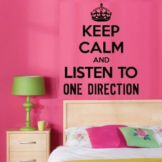 One Direction Room Decor One Direction Wall Art Sticker
