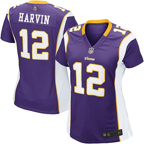1ad8ef61 Womens Nike Minnesota Vikings #12 Percy Harvin Game T… | Authentic ...