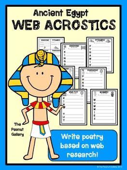 Ancient Egypt Web Acrostic Poetry Acrostic Poetry Acrostic Ancient Egypt
