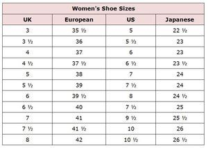 Shop Abroad With These Clothing Size Conversion Charts Shoe Chart Shoe Size Chart Clothing Size Chart