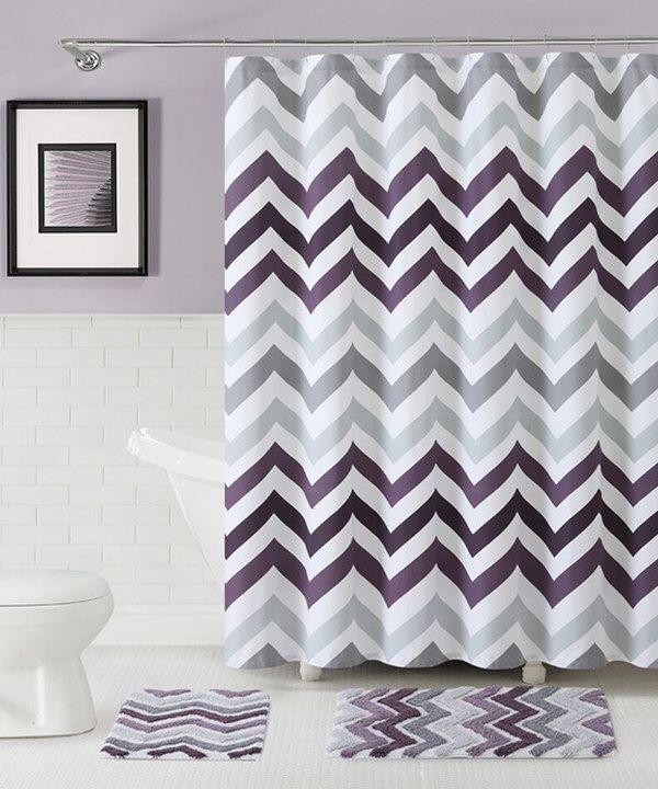 Look At This Purple Corso Chevron Shower Curtain Amp Bath