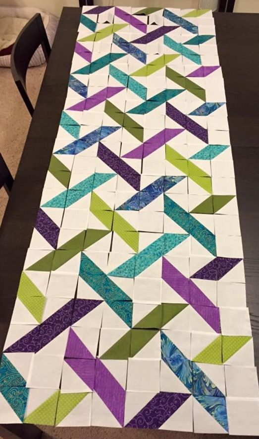 Love this quilt idea - uploaded by another user so no link to the project :(