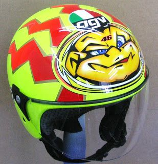 Repair on AGV Open face Helmet #153 ~ Hand Painted Helmets - Design your helmet today..!!