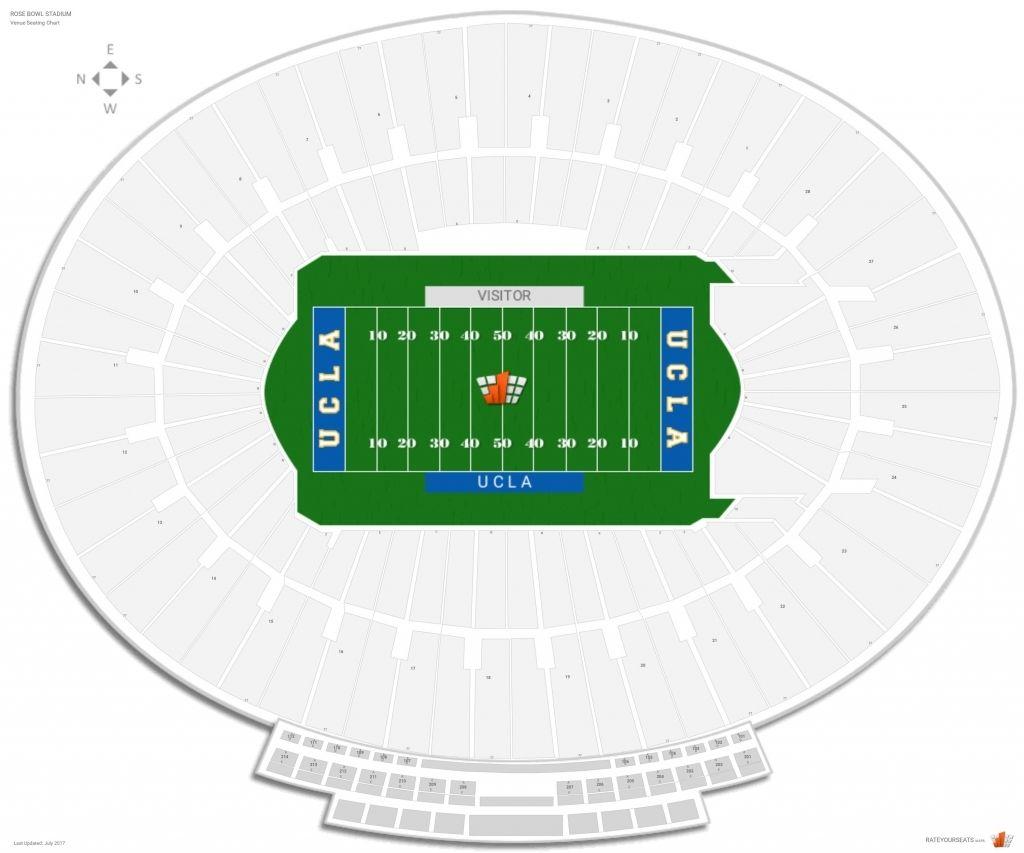 Rose Bowl Seating Chart Rose Bowl Stadium Neyland Stadium Seating Charts