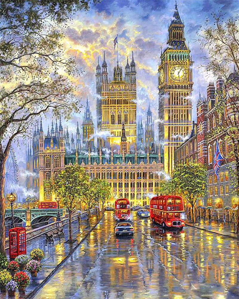 DIY 5D Diamond Painting Embroidery London Night View Cross Stitch Art Home Decor