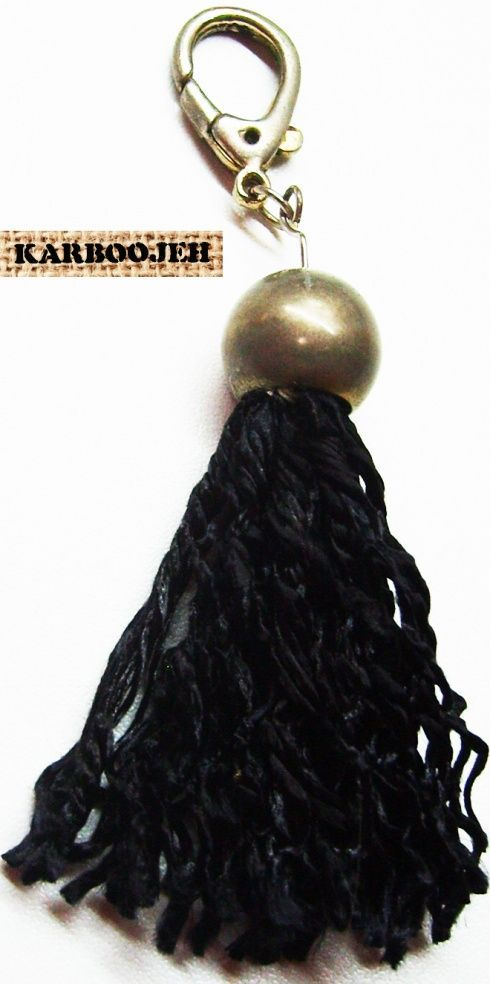 Karboojeh Handmade  Tutorial on making a fashion tassel from a thread of silk, a bead cap, and findings. Add it to anyt #handmade #karboojeh