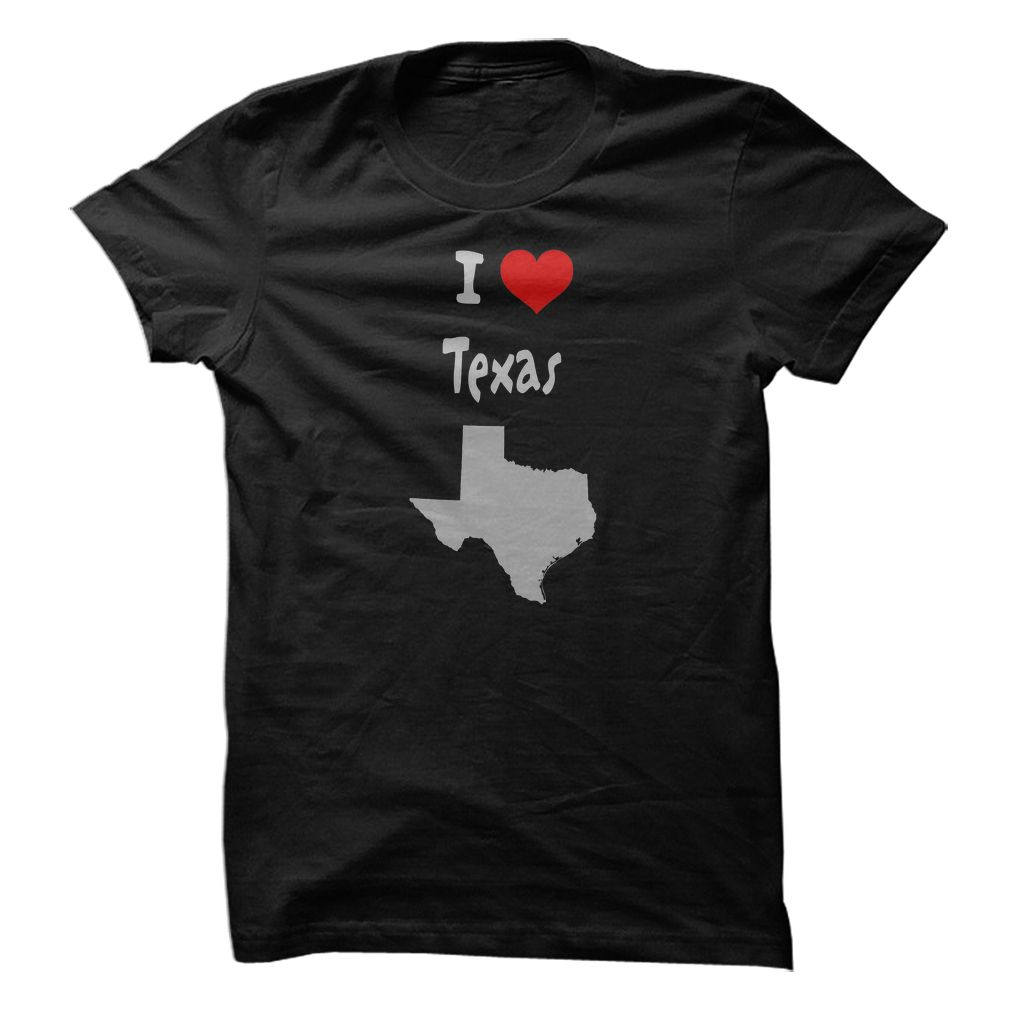 I Love Texas with  Heart and Texas State Silhouette