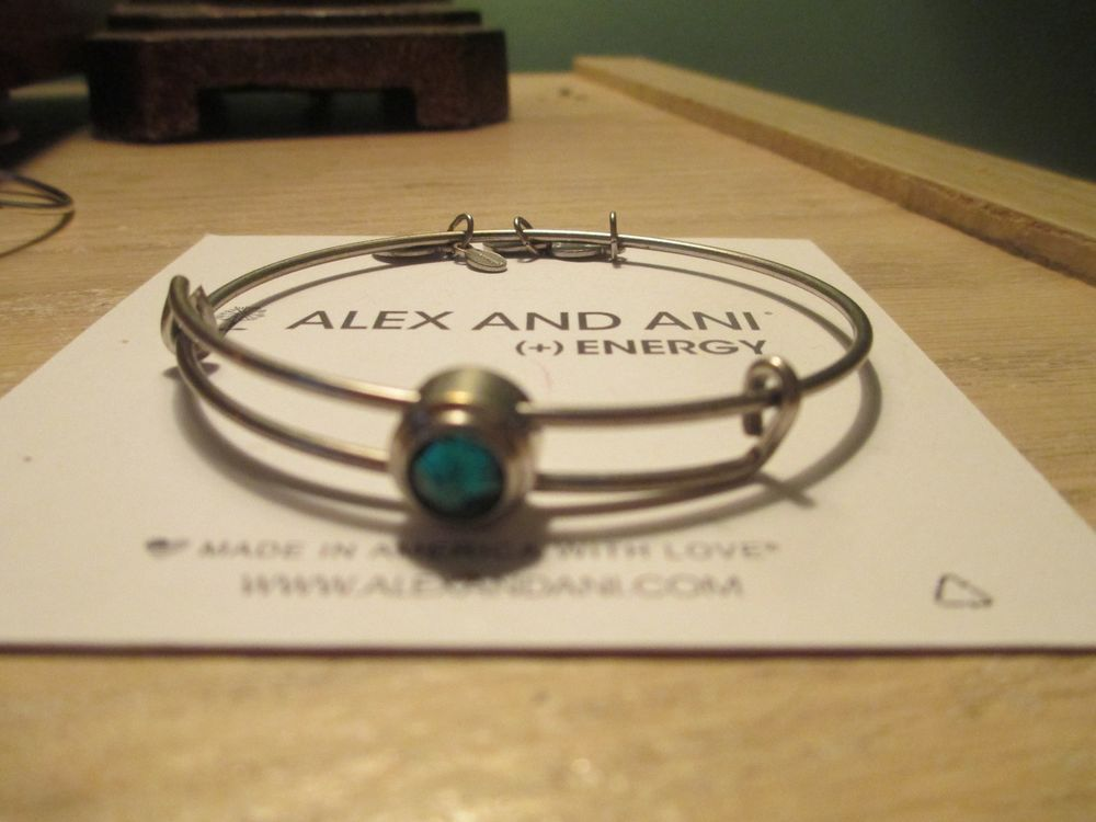 Rare Alex and Ani Sacred Stud Emerald Love Necklace Gold Plated