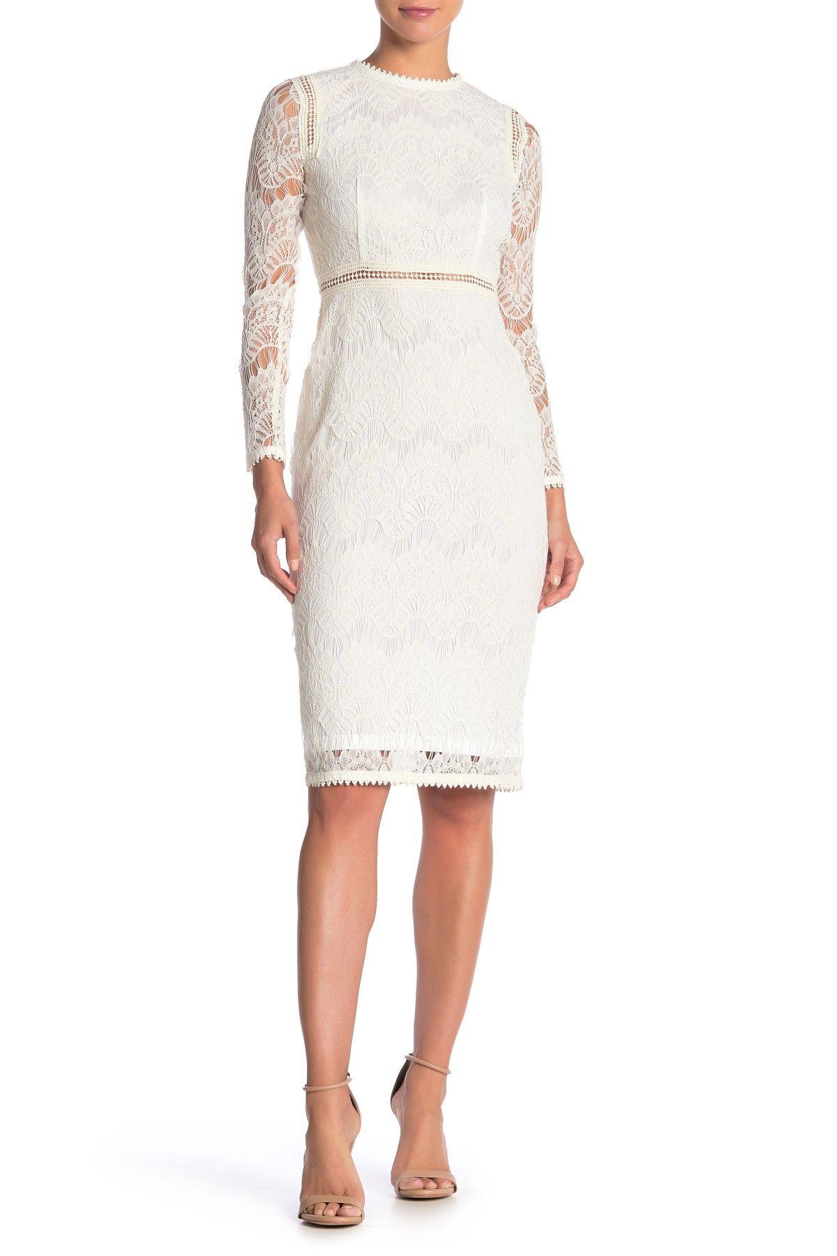 Love By Design Lace Long Sleeve Midi Dress Nordstrom Rack [ 1800 x 1200 Pixel ]
