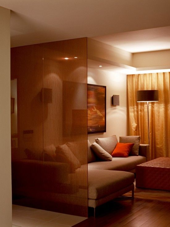 The Room Divider Is Made Out Of Two Layers Of Transparent Tempered