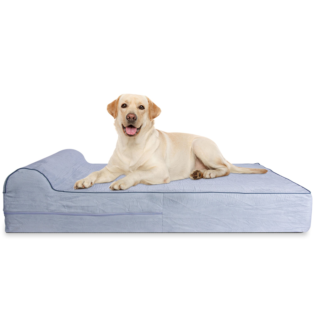 Kopeks Orthopedic Grey Bed With Pillow For Dogs 50 L X 34 W X 7 H Petco In 2021 Cool Dog Beds Orthopedic Dog Bed Orthopedic Dog