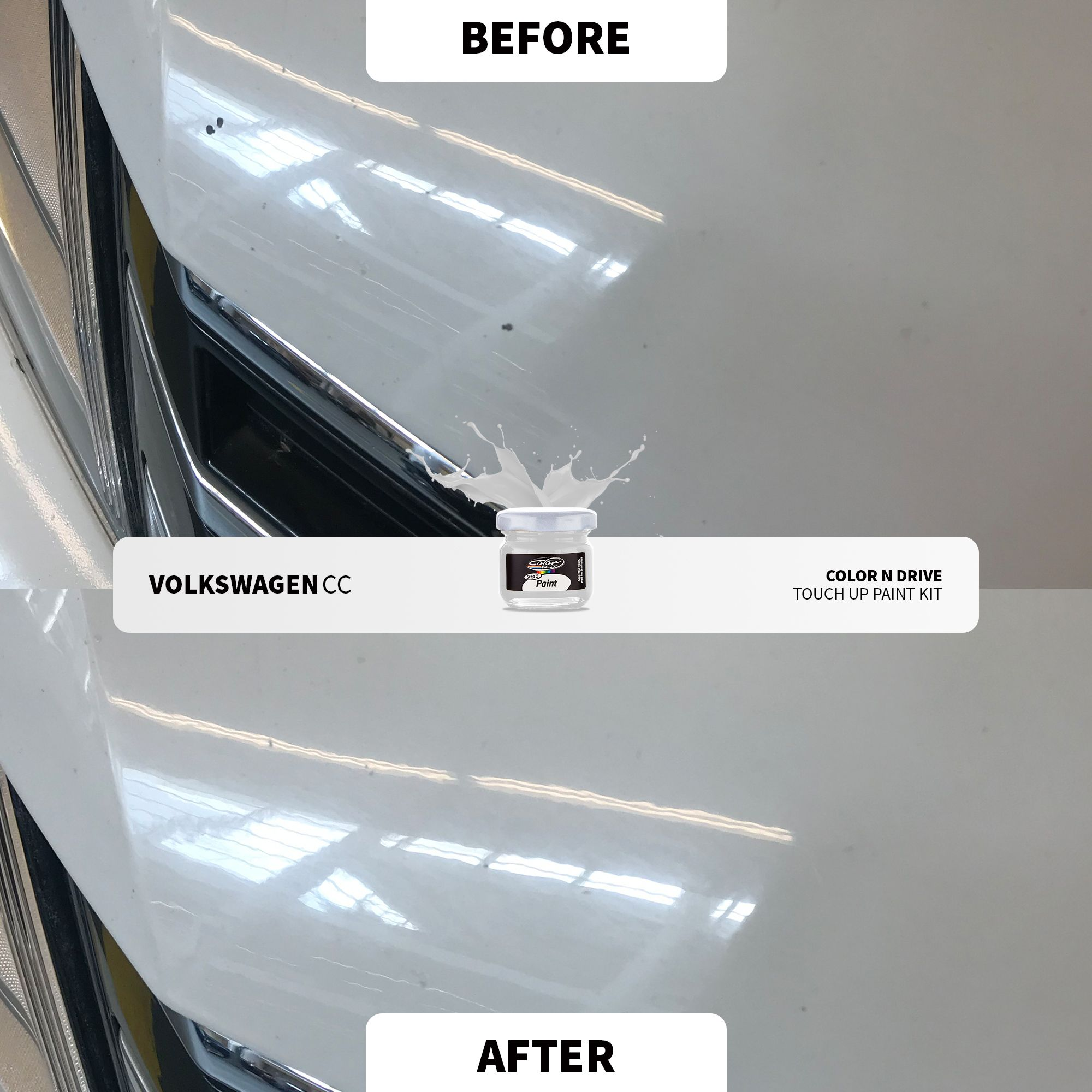 Volkswagen Before After Touch Up Paint Paint Repair Volkswagen