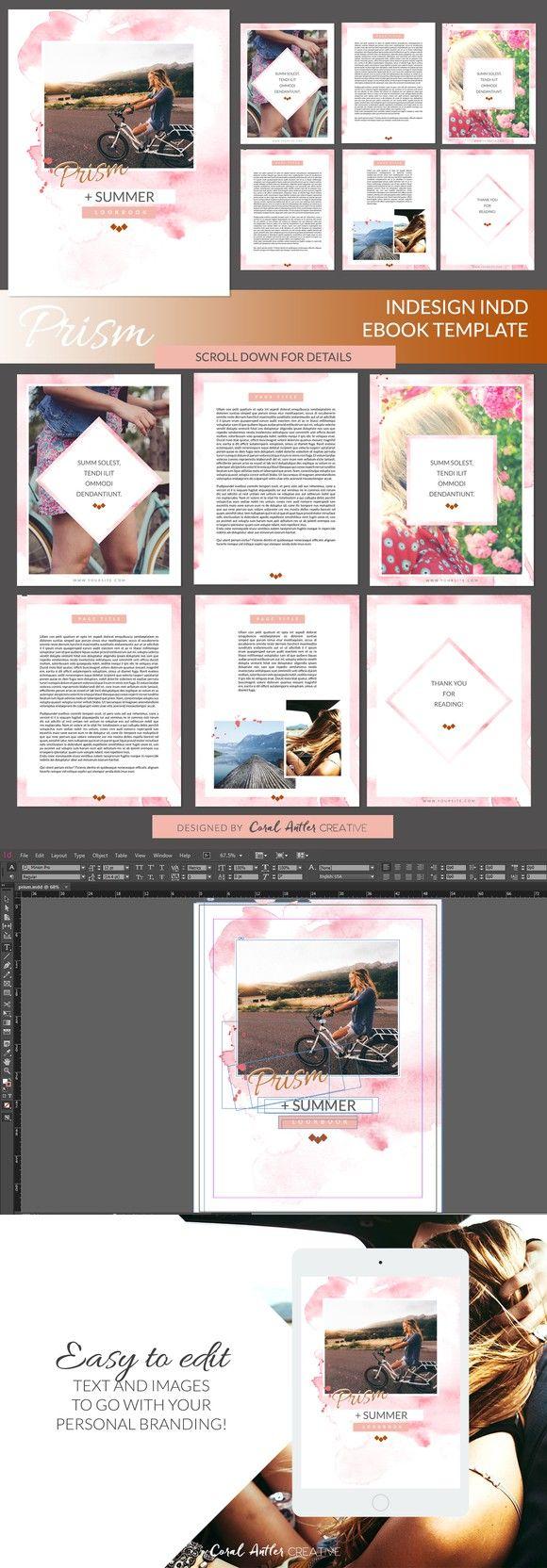 Prism Indesign Ebook Template Presentation Templates Pinterest