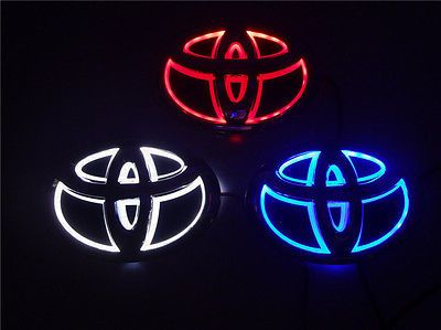Waterproof 5dled Car Logo Light Auto Front Emblem Lamp For Toyota