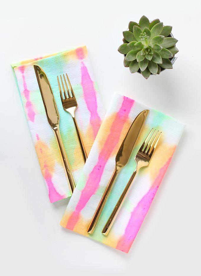 » MY DIY | Tie-Dyed Watercolor Napkins