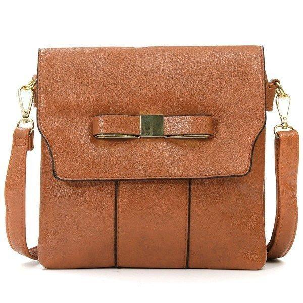 Women Vintage Bowknot PU Leather Hasp Messenger Shoulder Bag Crossbody Bag