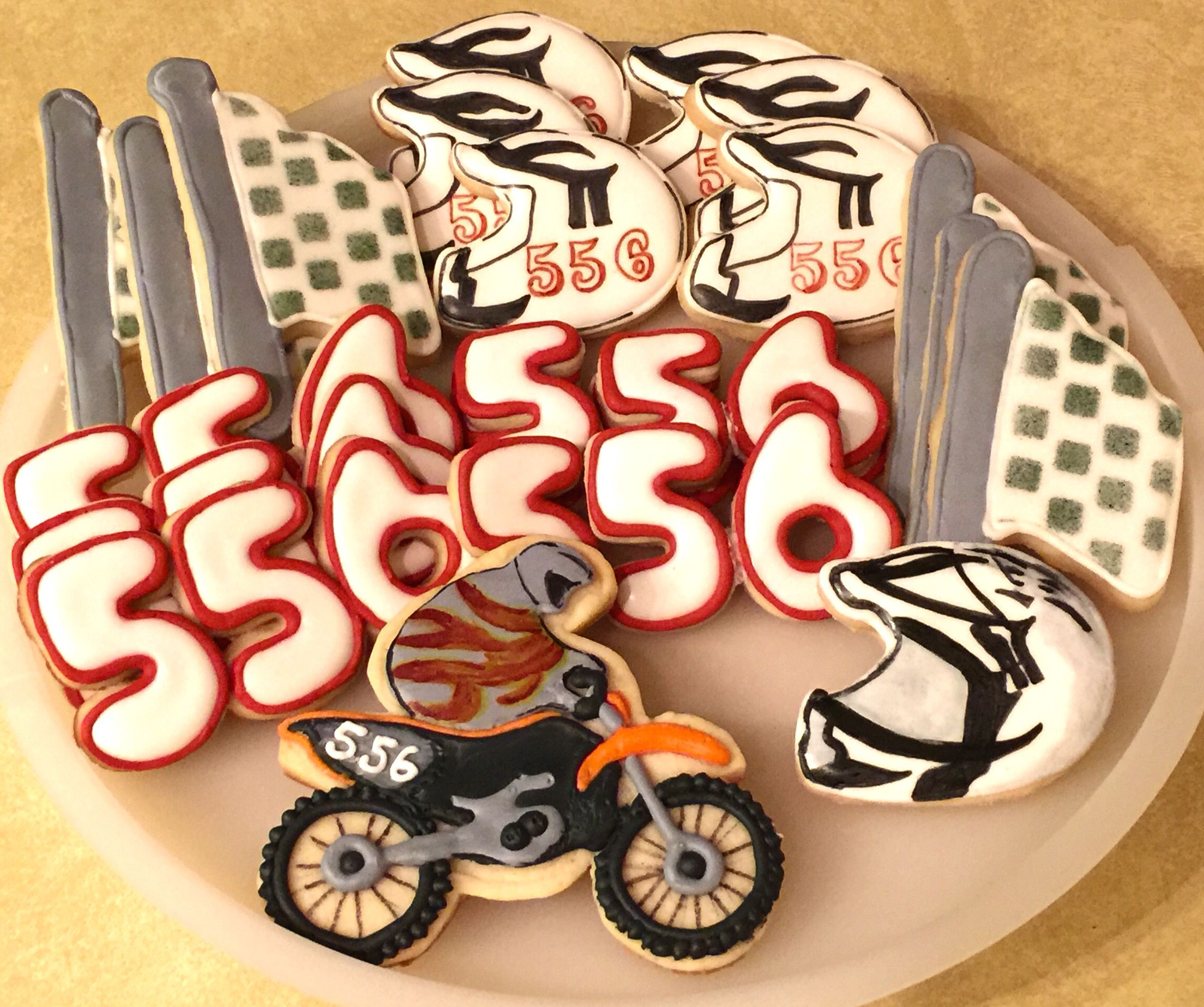 Personalized BMX Dirt Bike Cookies