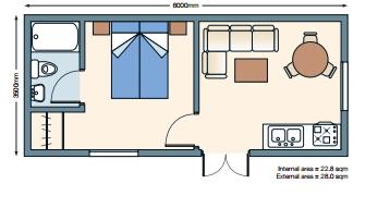 single annexe floorplan house plans in 2019 apartment. Black Bedroom Furniture Sets. Home Design Ideas
