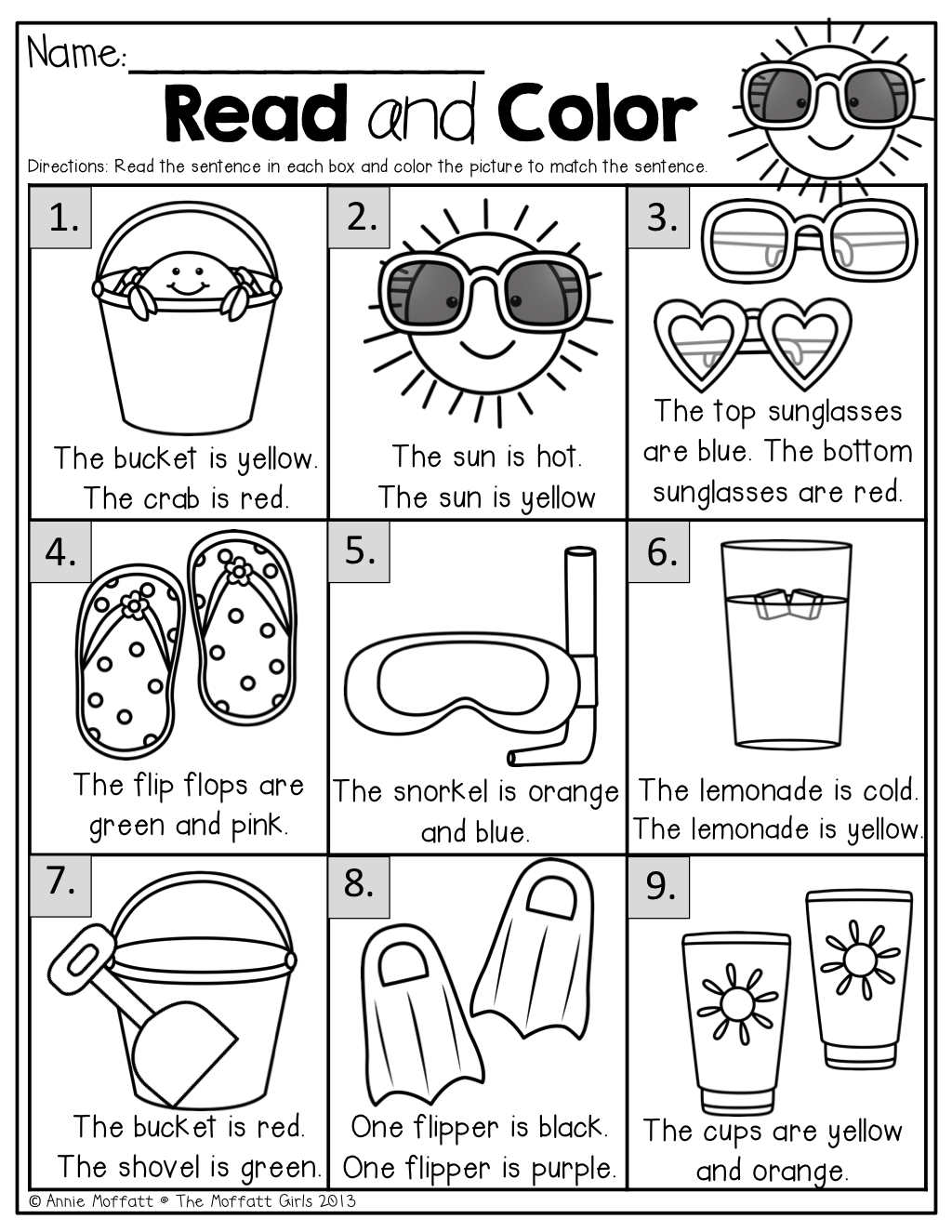 Summer Review NO PREP (Kindergarten) Summer worksheets