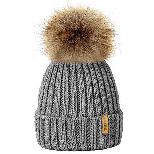 d1ebf4479 ROCKJOCK Ladies Marl Chunky Knit Bobble Hat with fleece Thinsulate ...