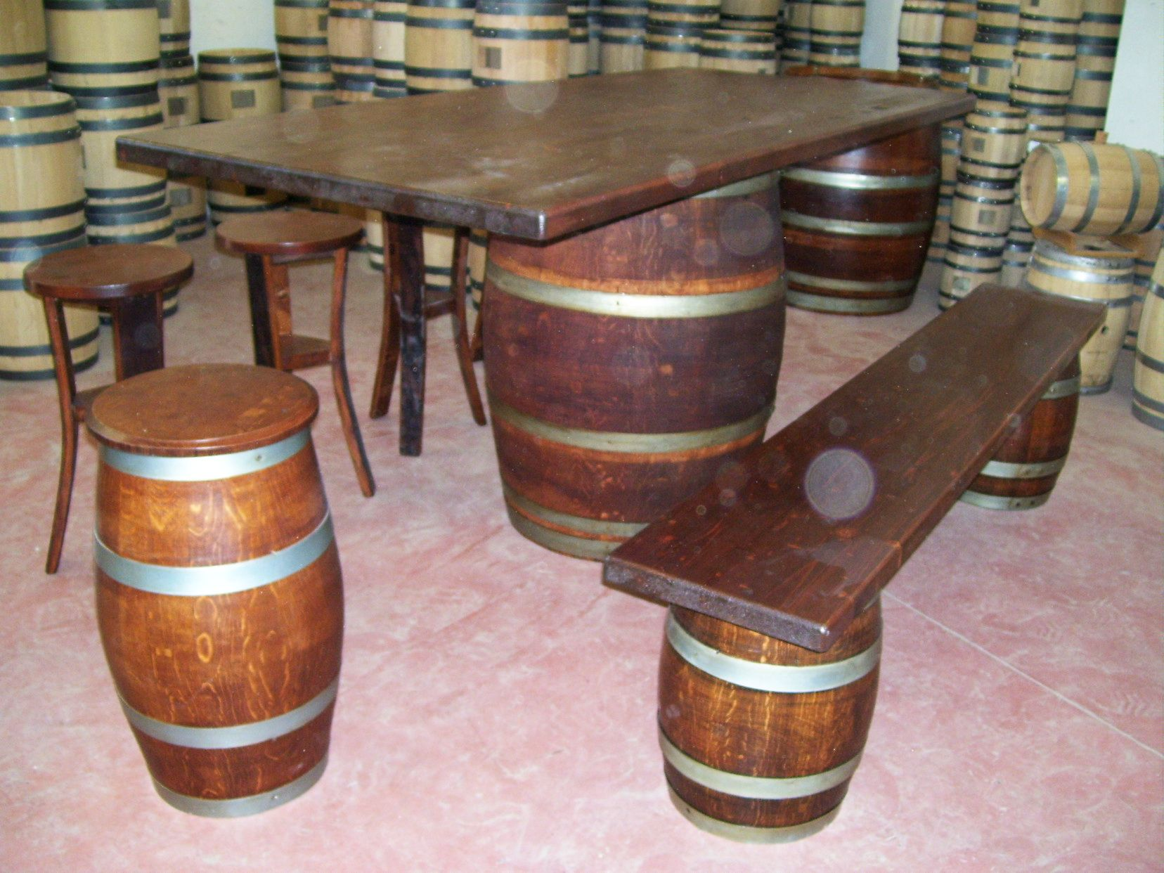 Botte arredamento ~ 1275 #tavolo da #birreria e #osteria da 2 metri con #panca a