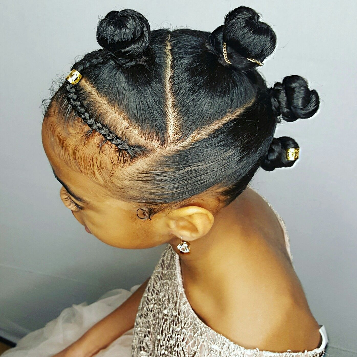 Bantuknots updo Curly girls hairstyle  Braids  Girls