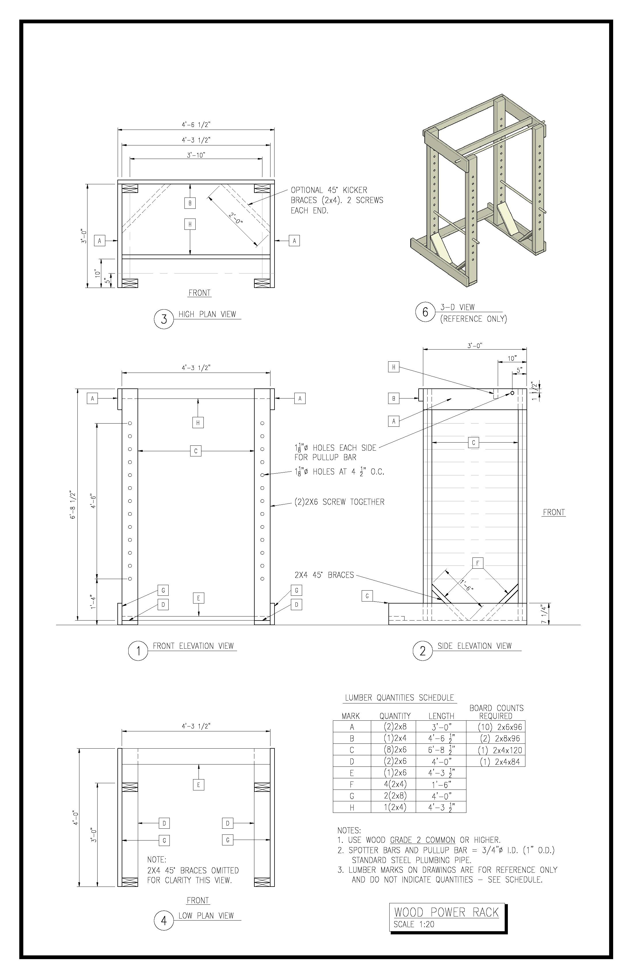 plans for dyi squat rack
