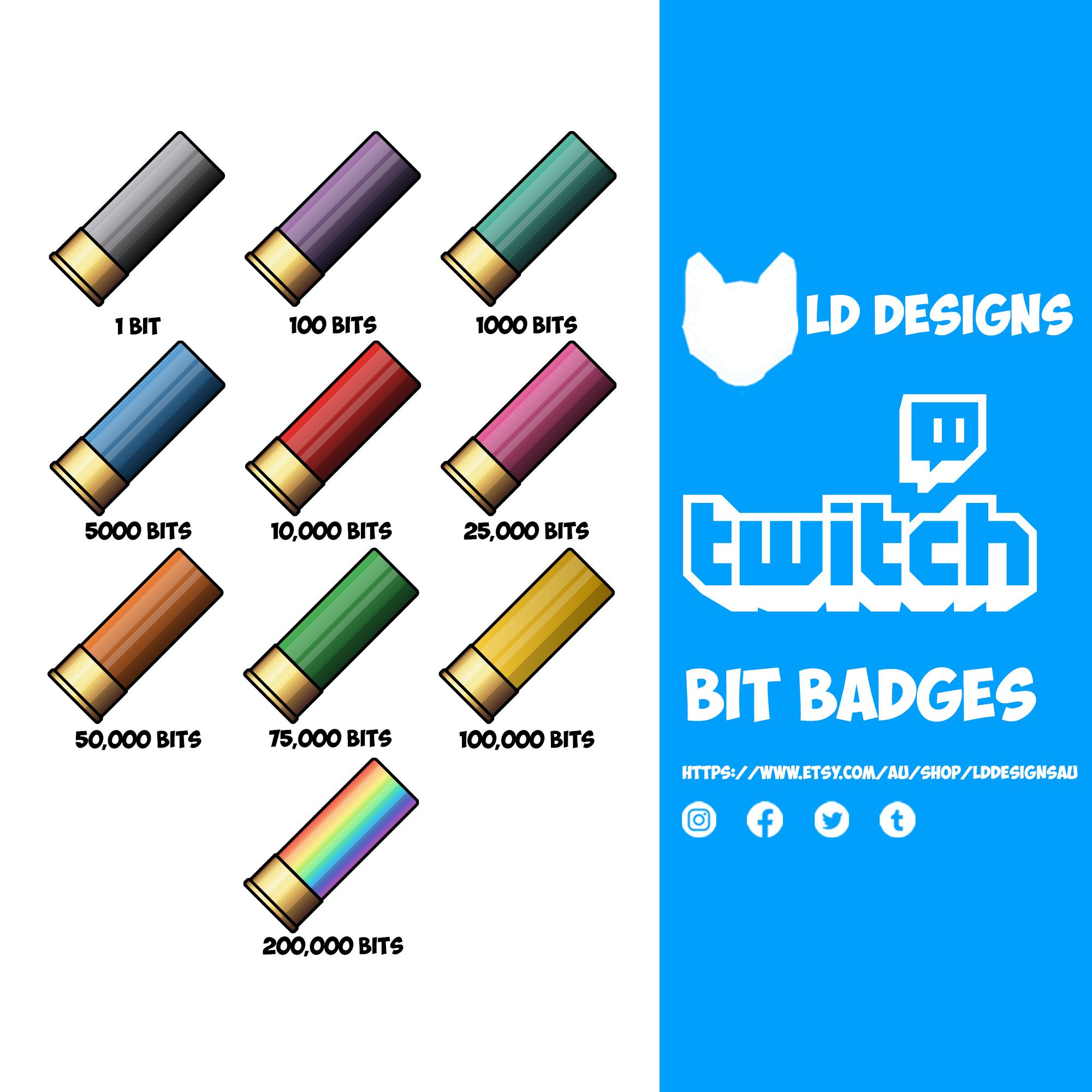 Pin On Twitch Sub Badges Bit Badges Panels And Emotes