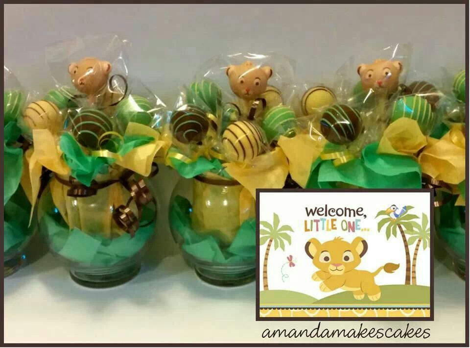 Baby Simba Cake Pops   Amanda Makes Cakes Baby Shower Ideas For Boys