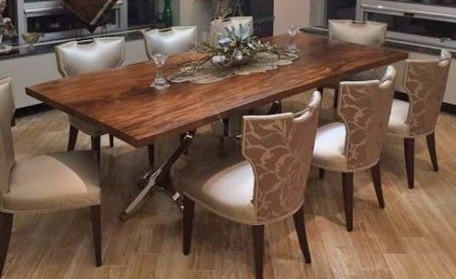 Beautiful Slab Dining Table By Woodland Creek Furniture