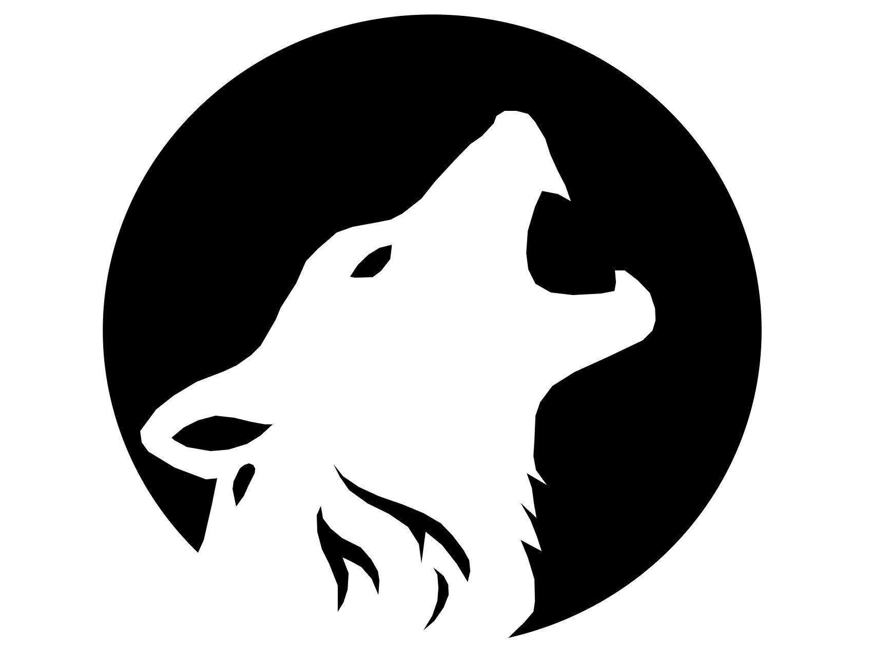 halloween howling wolf stencil – free pumpkin carving, a werewolf