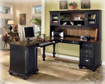 725 Ashley Furniture Brush Hollow Office Computer Desk Hutch