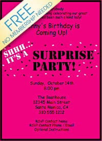 Surprise Birthday Party Invitation My Birthday Pinterest - Surprise birthday party invitation template